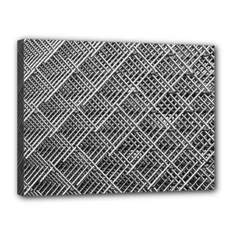 Grid Wire Mesh Stainless Rods Canvas 16  X 12