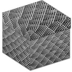 Grid Wire Mesh Stainless Rods Storage Stool 12   by Nexatart