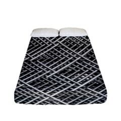 Grid Wire Mesh Stainless Rods Fitted Sheet (full/ Double Size) by Nexatart