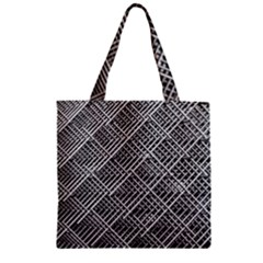Grid Wire Mesh Stainless Rods Zipper Grocery Tote Bag