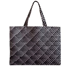 Grid Wire Mesh Stainless Rods Zipper Mini Tote Bag by Nexatart