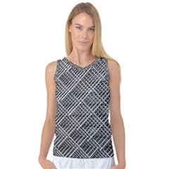 Grid Wire Mesh Stainless Rods Women s Basketball Tank Top