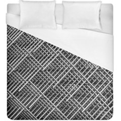 Grid Wire Mesh Stainless Rods Duvet Cover (king Size) by Nexatart