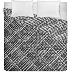Grid Wire Mesh Stainless Rods Duvet Cover Double Side (king Size)