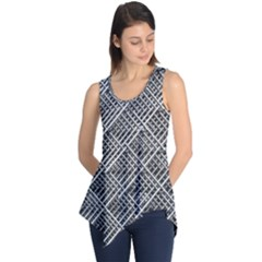 Grid Wire Mesh Stainless Rods Sleeveless Tunic