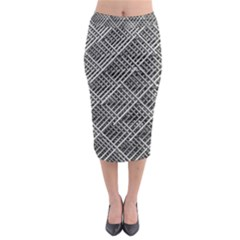Grid Wire Mesh Stainless Rods Midi Pencil Skirt by Nexatart