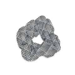 Grid Wire Mesh Stainless Rods Velvet Scrunchie