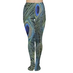 Peacock Feathers Blue Bird Nature Women s Tights