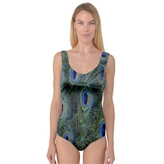 Peacock Feathers Blue Bird Nature Princess Tank Leotard