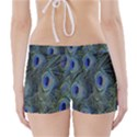 Peacock Feathers Blue Bird Nature Boyleg Bikini Wrap Bottoms View2