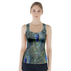 Peacock Feathers Blue Bird Nature Racer Back Sports Top