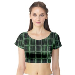 Matrix Earth Global International Short Sleeve Crop Top (Tight Fit)