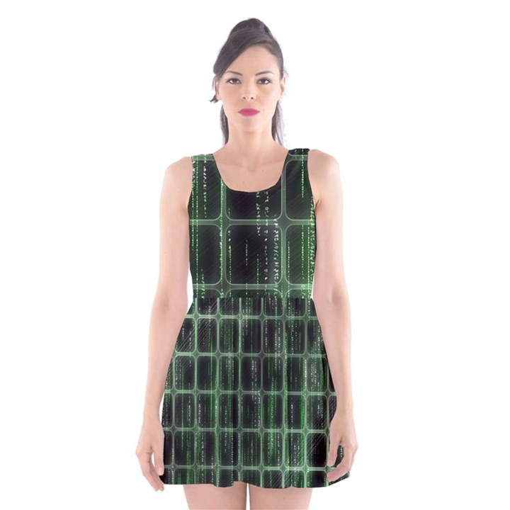 Matrix Earth Global International Scoop Neck Skater Dress