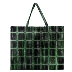 Matrix Earth Global International Zipper Large Tote Bag