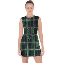 Matrix Earth Global International Lace Up Front Bodycon Dress