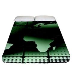 Matrix Earth Global International Fitted Sheet (king Size) by Nexatart