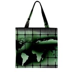 Matrix Earth Global International Zipper Grocery Tote Bag