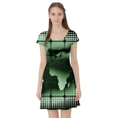 Matrix Earth Global International Short Sleeve Skater Dress