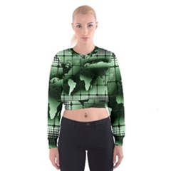 Matrix Earth Global International Cropped Sweatshirt
