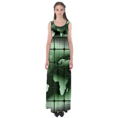 Matrix Earth Global International Empire Waist Maxi Dress