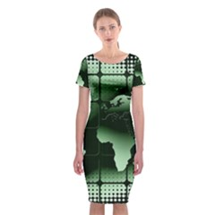 Matrix Earth Global International Classic Short Sleeve Midi Dress