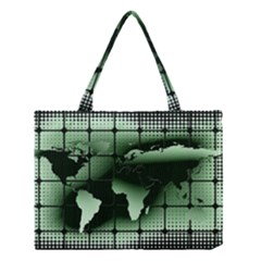 Matrix Earth Global International Medium Tote Bag by Nexatart