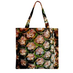 Pineapple Texture Macro Pattern Zipper Grocery Tote Bag by Nexatart