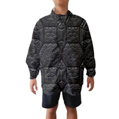 Tile Emboss Luxury Artwork Depth Wind Breaker (kids)
