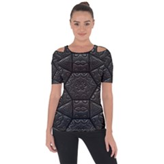 Tile Emboss Luxury Artwork Depth Short Sleeve Top