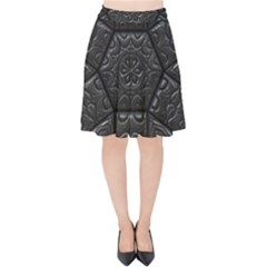 Tile Emboss Luxury Artwork Depth Velvet High Waist Skirt by Nexatart