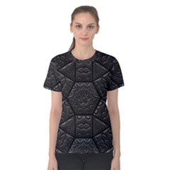 Tile Emboss Luxury Artwork Depth Women s Cotton Tee