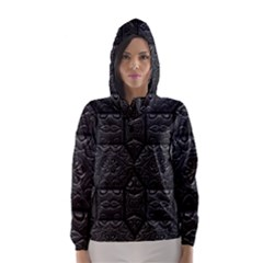 Tile Emboss Luxury Artwork Depth Hooded Wind Breaker (women)
