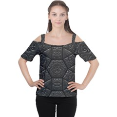 Tile Emboss Luxury Artwork Depth Cutout Shoulder Tee