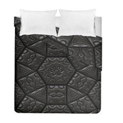 Tile Emboss Luxury Artwork Depth Duvet Cover Double Side (full/ Double Size)