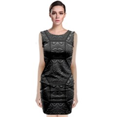 Tile Emboss Luxury Artwork Depth Classic Sleeveless Midi Dress