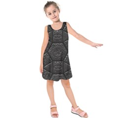 Tile Emboss Luxury Artwork Depth Kids  Sleeveless Dress