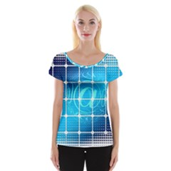 Tile Square Mail Email E Mail At Cap Sleeve Tops