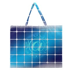 Tile Square Mail Email E Mail At Zipper Large Tote Bag