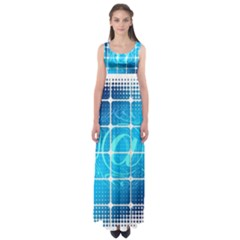 Tile Square Mail Email E Mail At Empire Waist Maxi Dress