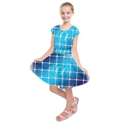 Tile Square Mail Email E Mail At Kids  Short Sleeve Dress