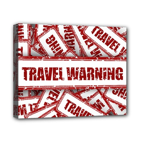 Travel Warning Shield Stamp Canvas 10  X 8  by Nexatart