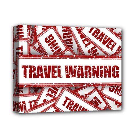 Travel Warning Shield Stamp Deluxe Canvas 14  X 11  by Nexatart