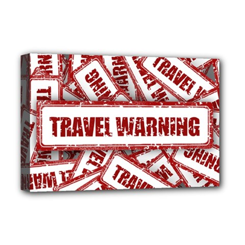 Travel Warning Shield Stamp Deluxe Canvas 18  X 12