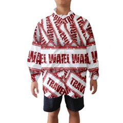 Travel Warning Shield Stamp Wind Breaker (kids)