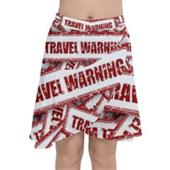 Travel Warning Shield Stamp Chiffon Wrap