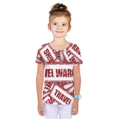 Travel Warning Shield Stamp Kids  One Piece Tee