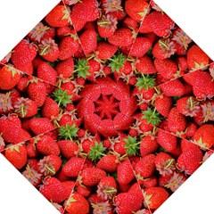 Strawberries Berries Fruit Folding Umbrellas