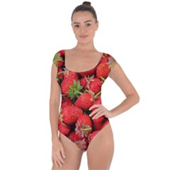 Strawberries Berries Fruit Short Sleeve Leotard