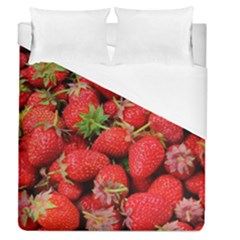Strawberries Berries Fruit Duvet Cover (queen Size) by Nexatart