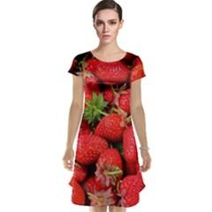 Strawberries Berries Fruit Cap Sleeve Nightdress